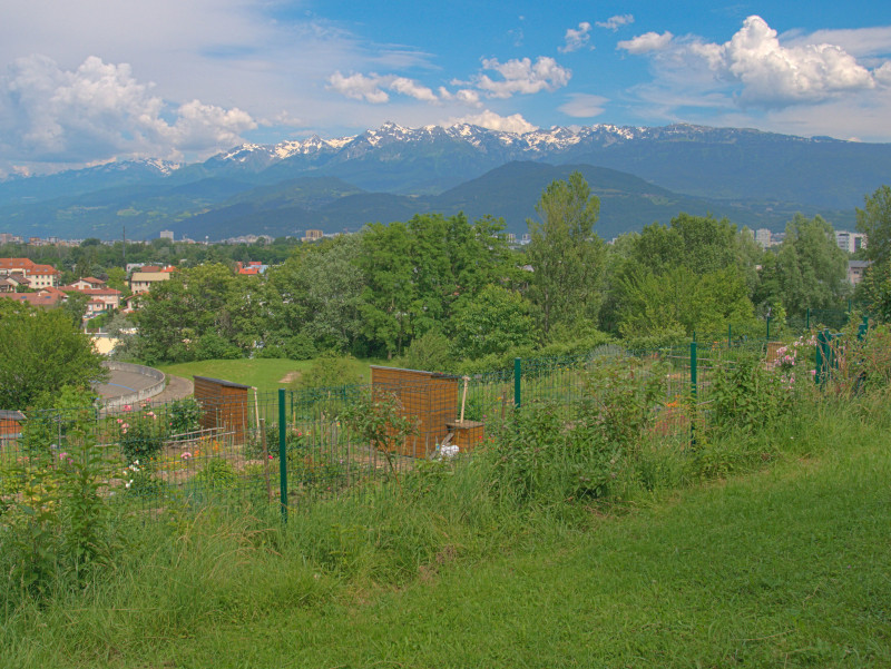 Le massif de Belledonne depuis la Frange Verte