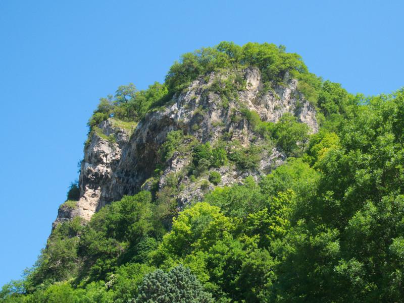 La formation rocheuse en détail