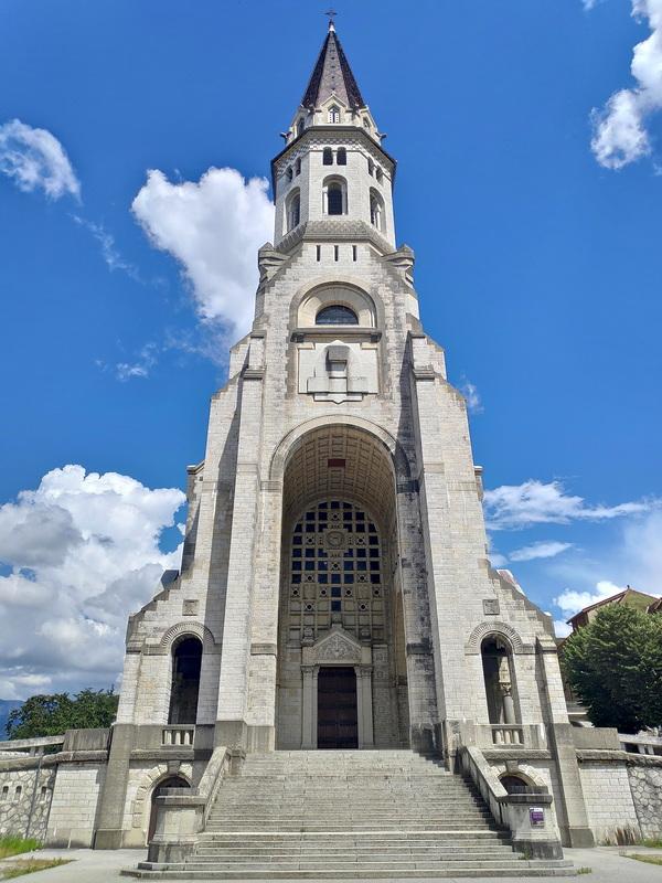 La basilique de la visitation située sur les hauteurs d'Annecy