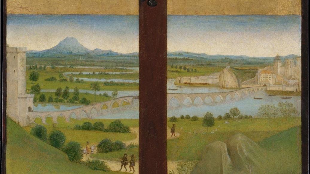 Peinture ancienne du pont d'Avignon