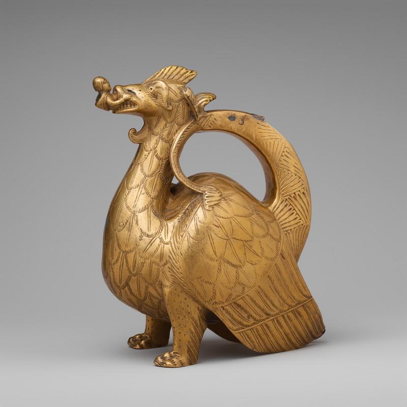 Aquamanile représentant un dragon